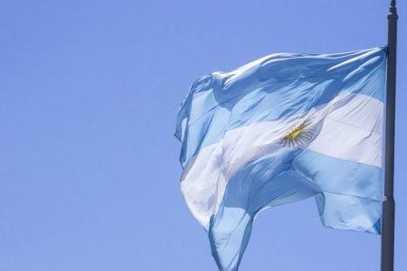bandeira branca e azul