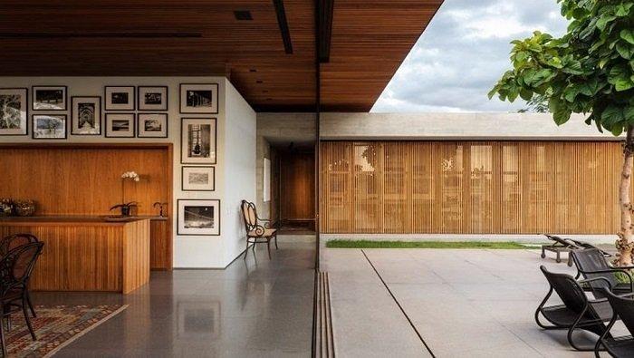 casa com varanda integrada