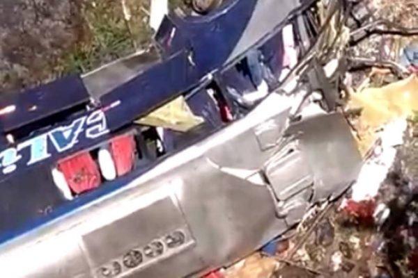 Acidente com ônibus em Minas Gerais