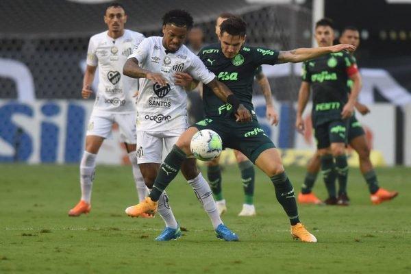 Marinho em Santos x Palmeiras