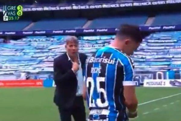 Renato Gaúcho provoca Pepê e diz que irá mostrar o DVD