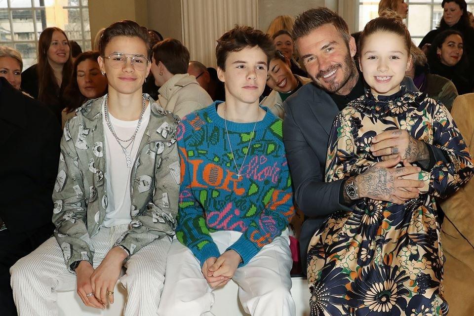 Romeo, Cruz, David e Harper Beckham