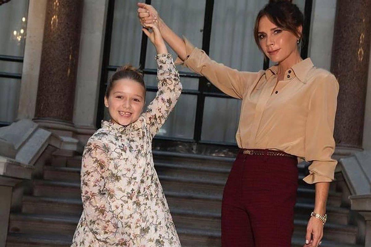 Harper e Victoria Beckham