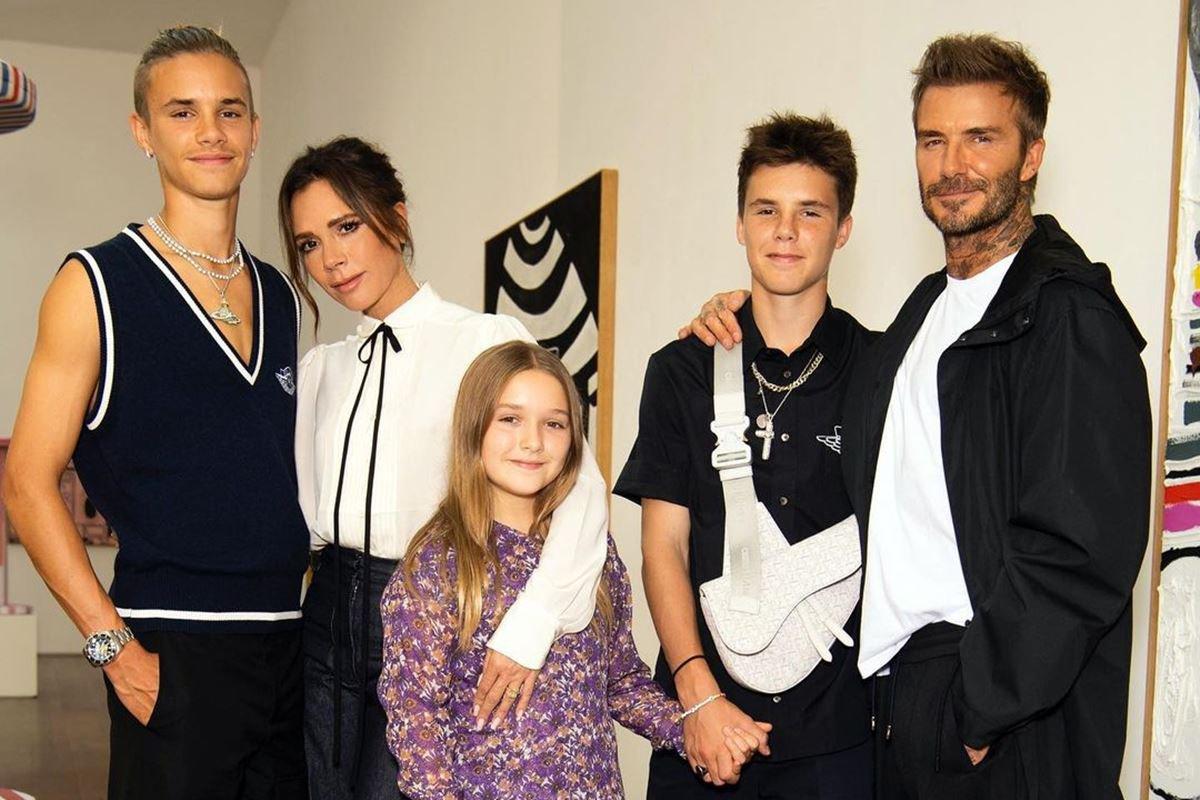 Romeo, Victoria, Harper, Cruz e David Beckham