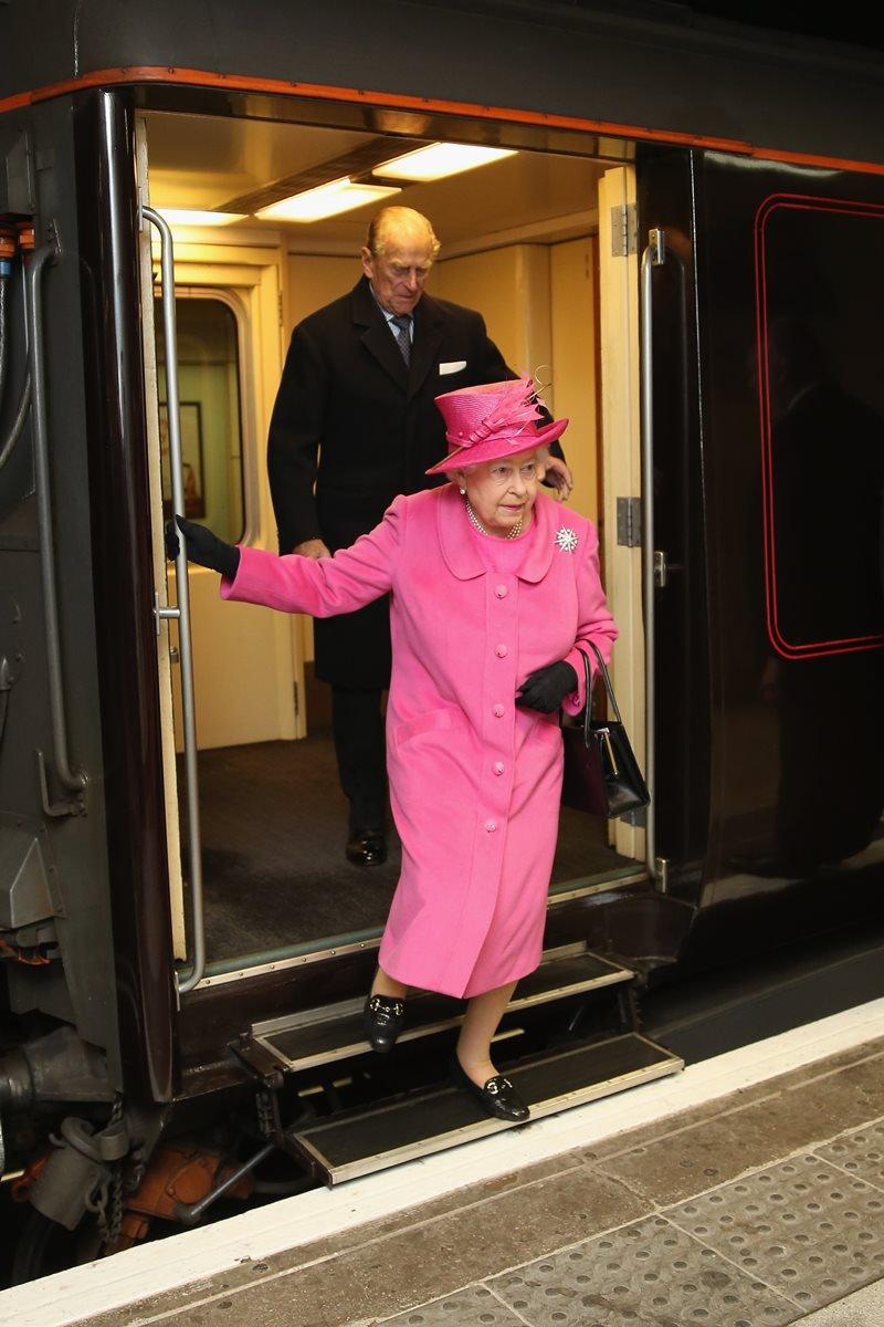 Rainha Elizabeth e o príncipe Philip