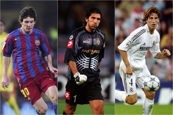 Messi, Buffon e Sergio Ramos