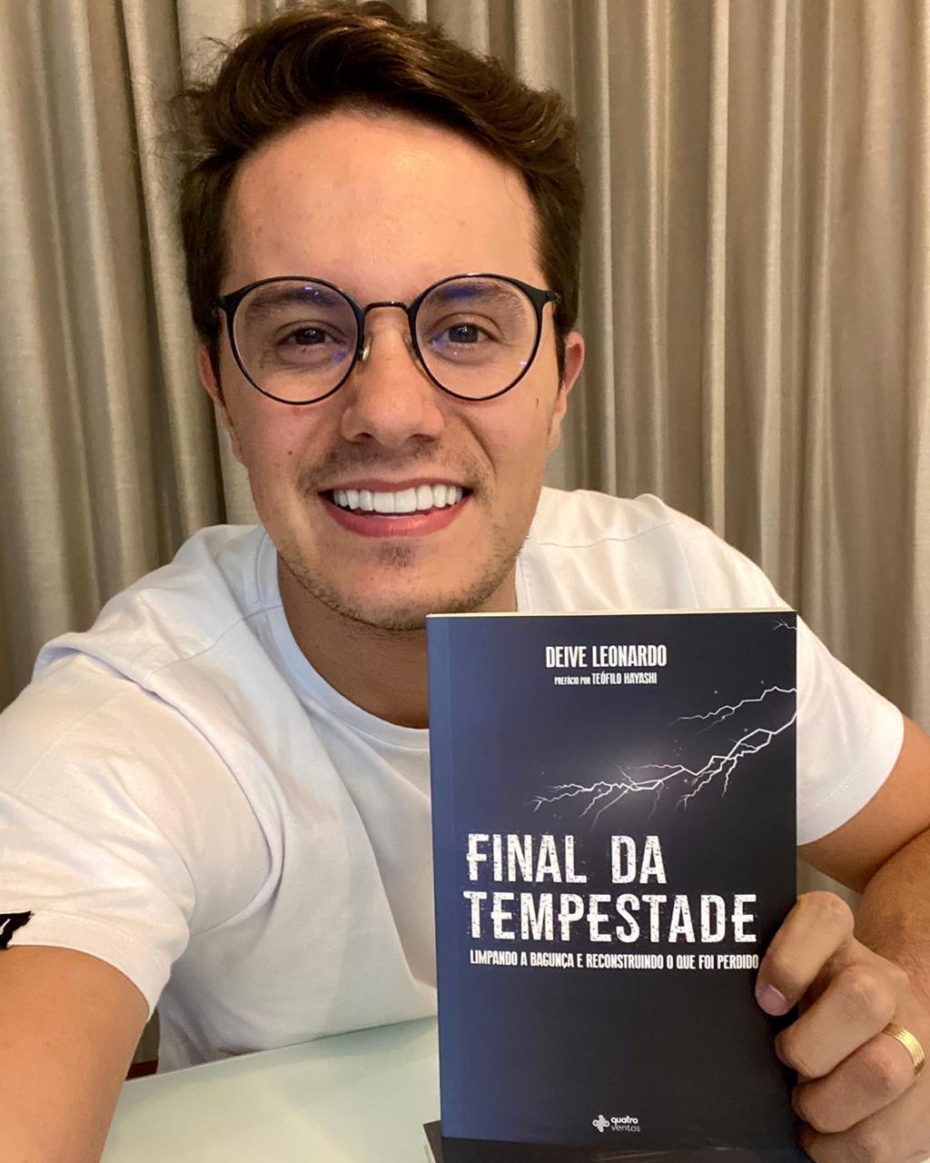 Deive Leonardo lança livro Final da Tempestade inspirado em série de vídeos