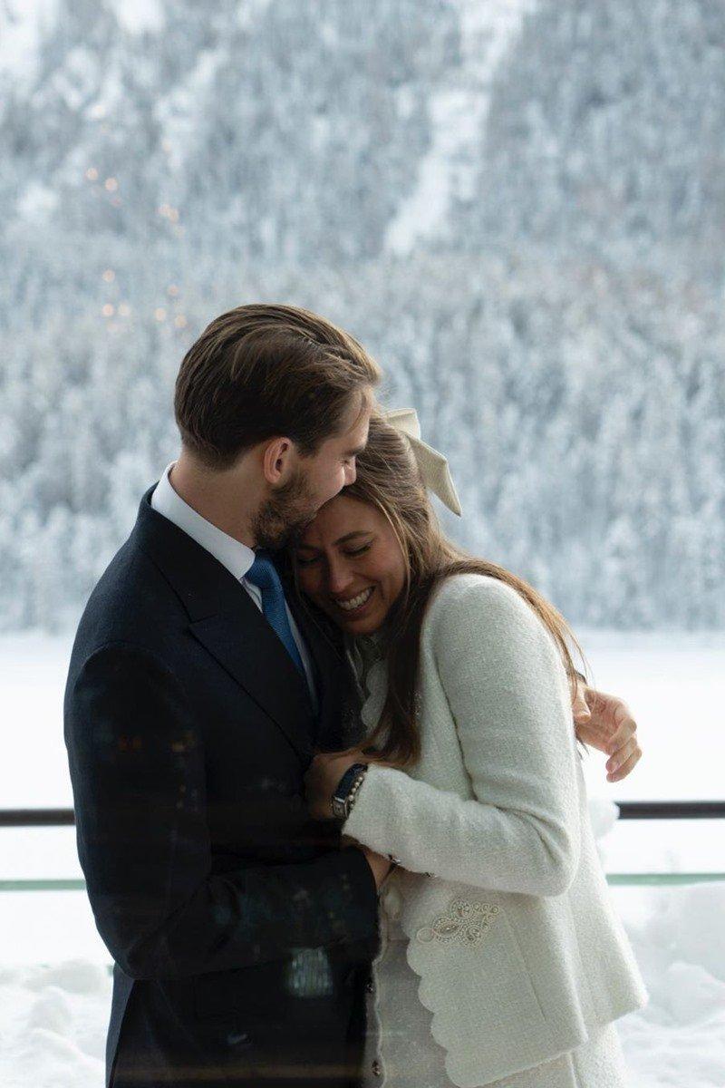 Príncipe Philippos da Grécia e da Dinamarca e Nina Flohr