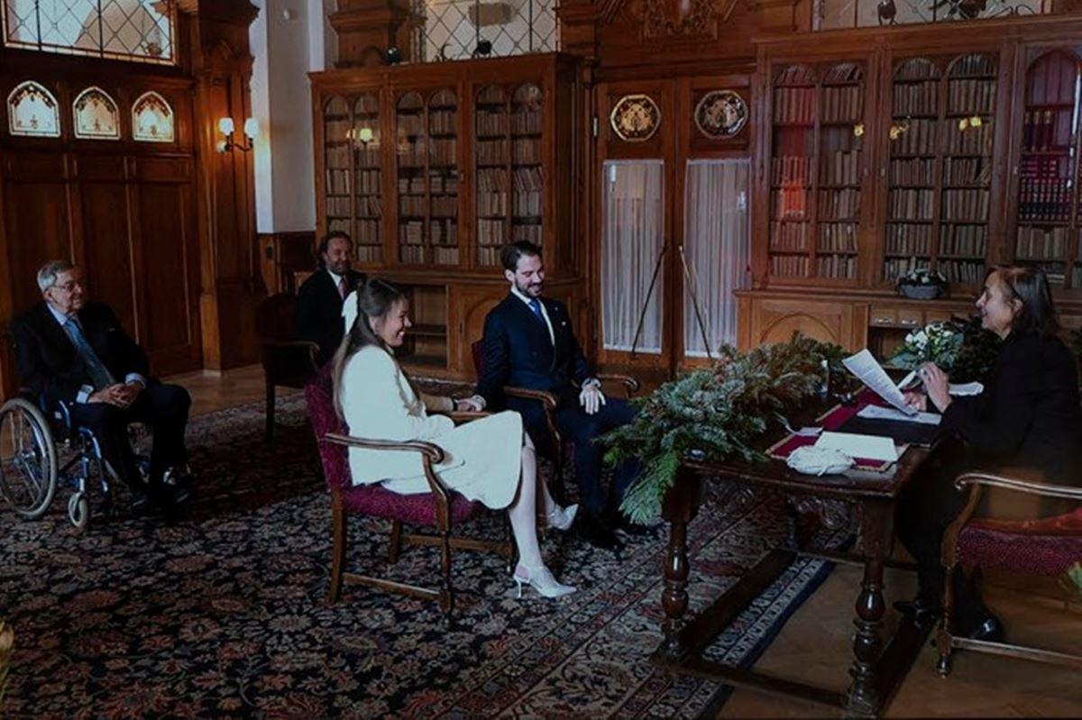 Casamento príncipe Philippos da Grécia e da Dinamarca com Nina Flohr