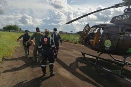 Após ser pisoteado por boi, homem é resgatado por helicóptero em região de difícil acesso no AC