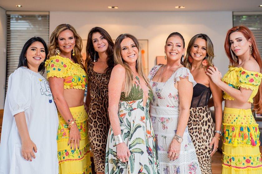 Clarice Lagares, Claudia Salomão, Junia Souto, Kika Cardoso, Georgia de Luca, Vanessa Lemos e Mima Marys
