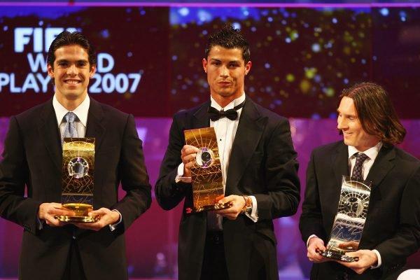 Kaká, Cristiano Ronaldo e Messi