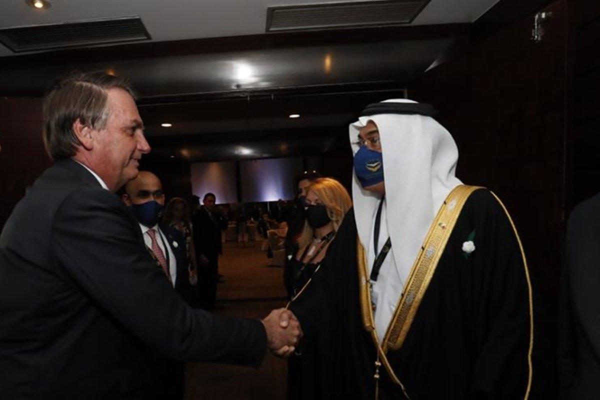 Presidente Bolsonaro e o príncipe do Bahrein