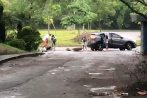 """Vídeo mostra filhas gritando para pai não matar juíza: """"Por favor, para!"""""""