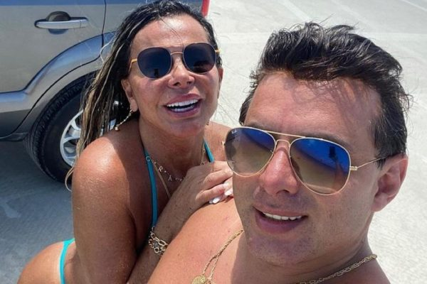 Gretchen com o marido