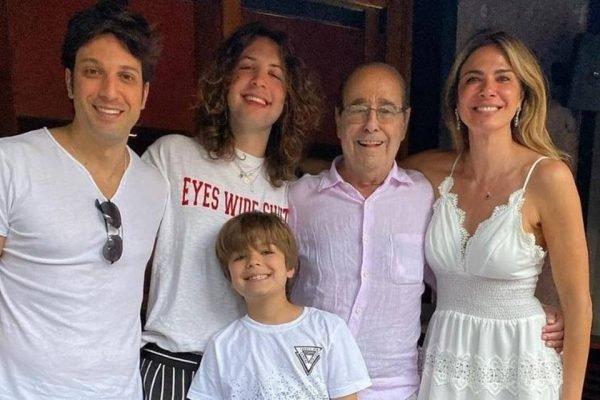 Luciana Gimenez e o pai Joao alberto morad