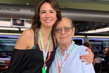 Luciana Gimenez e pai