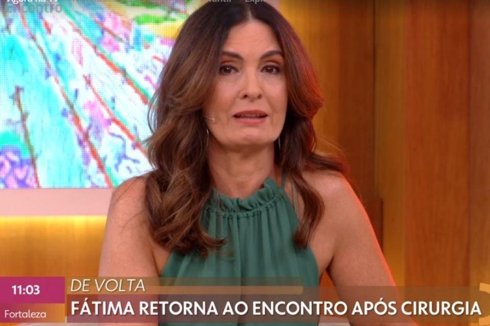 Fatima Bernardes se emociona ao voltar para televisão