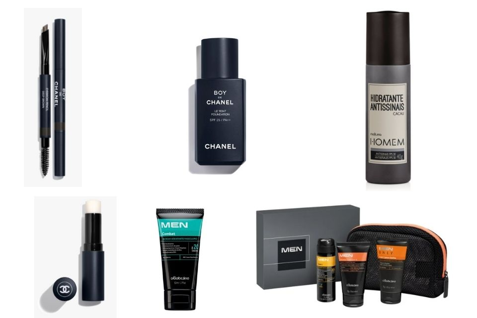produtos de maquiagem para homens