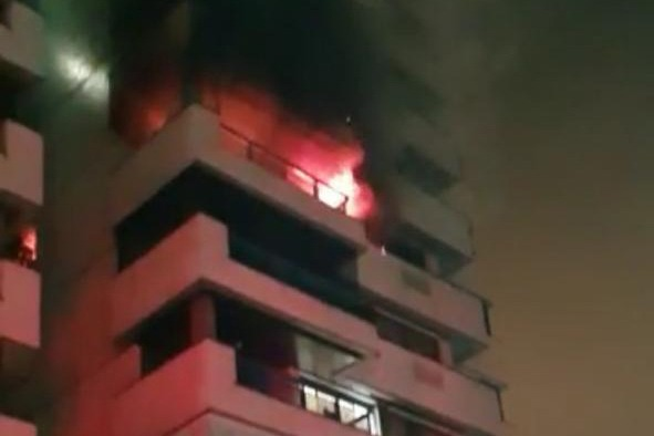 Incêndio em apartamento na Barra da Tijuca