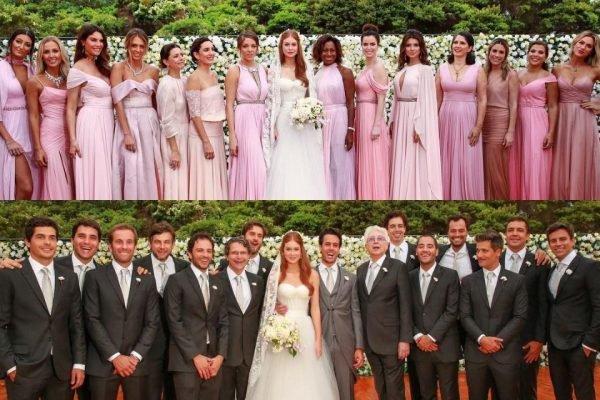 Casamento de Marina Ruy Barbosa e Xande Negrão teve 28 madrinhas e padrinhos