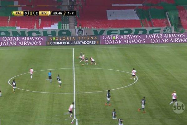 SBT transmite classificação do Palmeiras para Libertadores