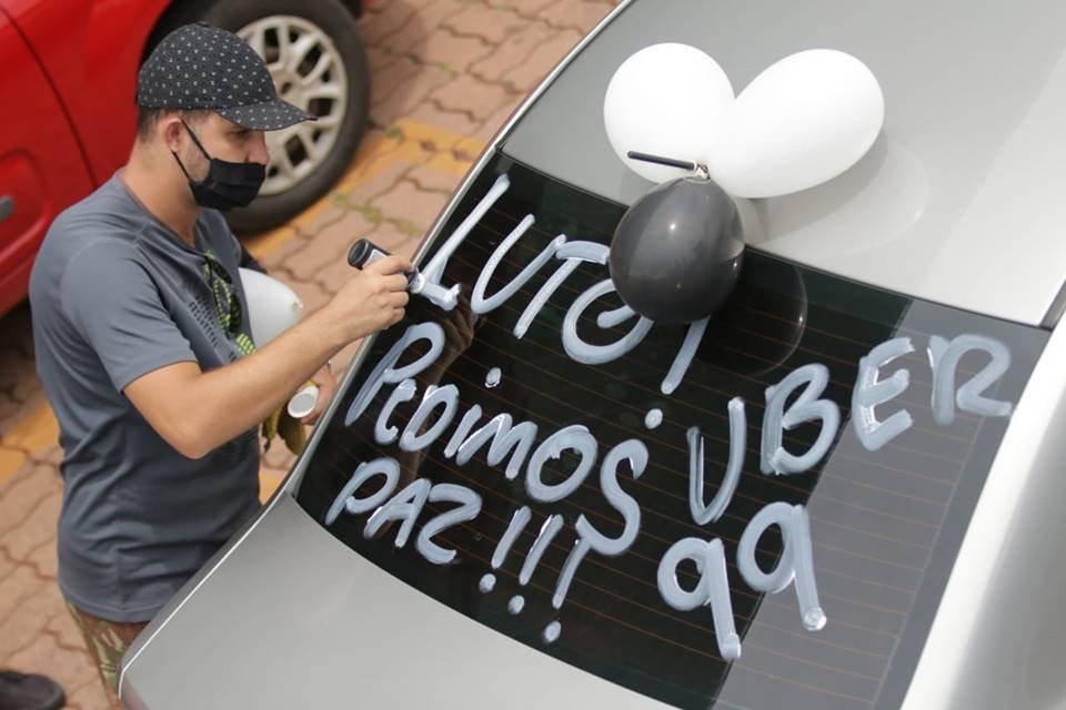 Protesto de motoristas de aplicativo