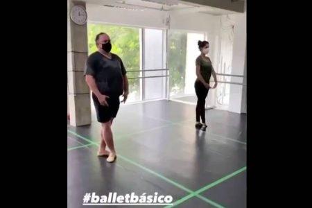 Leo Jaime dançando ballet