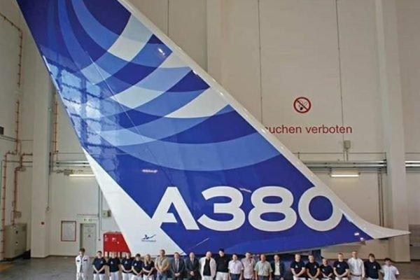 Cauda do Airbus A380