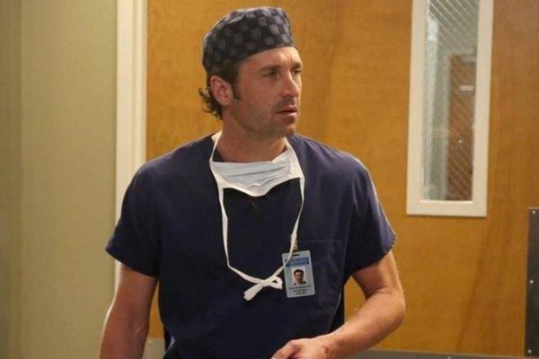 Patrick Dempsey como Derek Sheperd, da série Grey's Anatomy