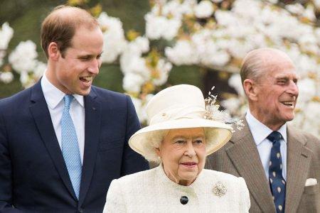 principe william rainha elizabeth e principe Philip