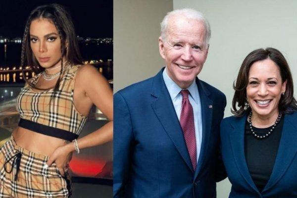 Anitta, Joe Biden e Kamala Harris
