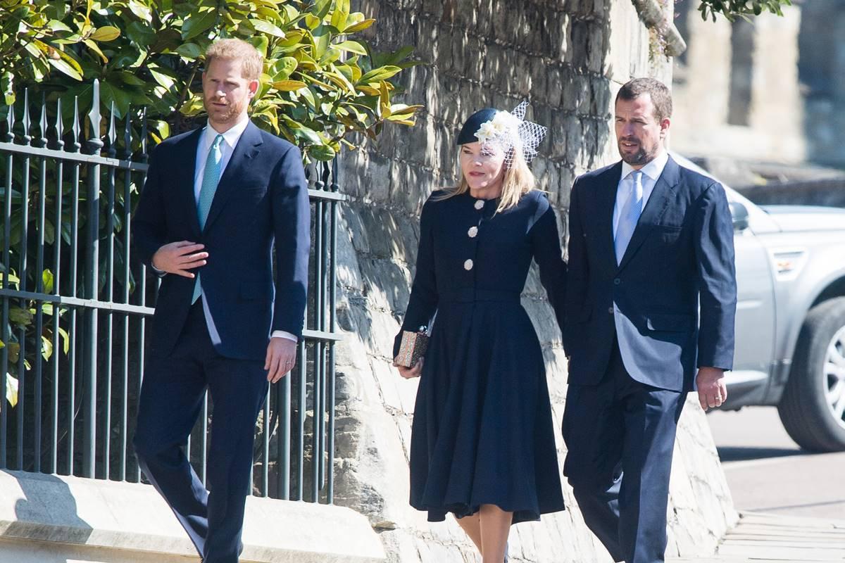 Príncipe Harry, Autumn e Peter Phillips