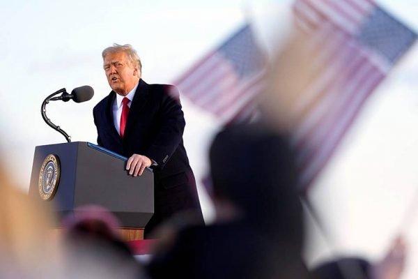Donald Trump em último discurso como presidente