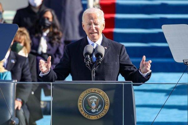 Joe Biden em discurso de posse