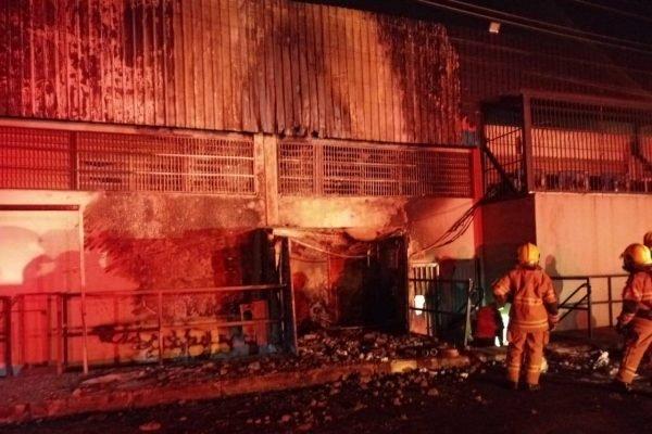 Incêndio no restaurante potiguar em Samambaia
