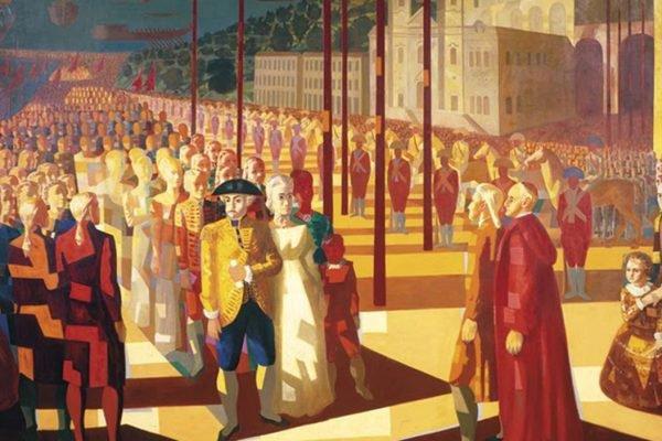 Tela Chegada da família real em Salvador