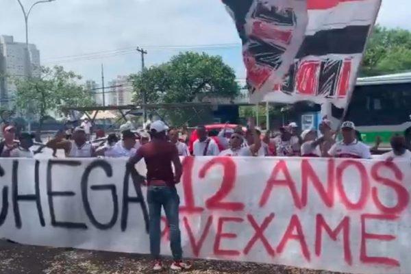 Protesto de Torcedores do São Paulo