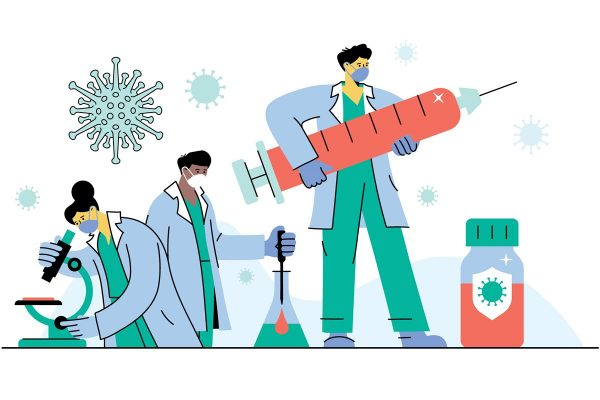 ilustração vacina