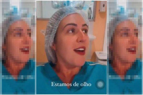 Enfermeira zomba da vacina contra o coronavírus