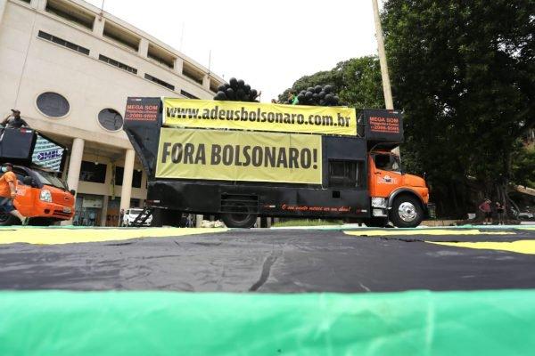 Carreata organizada pelo MBL e o movimento Vem Pra Rua, contra o presidente Jair Bolsonaro e o ministro da saúde Eduardo Pazuello