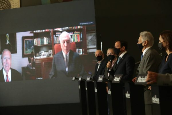 Doria e ex-presidentes em coletiva em SP