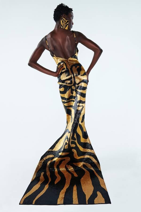 Look de alta-costura da Schiaparelli, de primavera/verão 2021