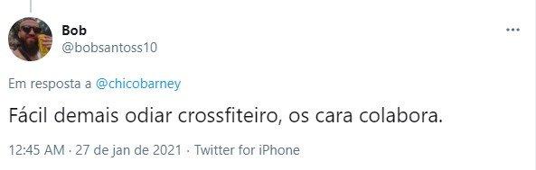 comentário sobre Arthur Picoli no Twitter