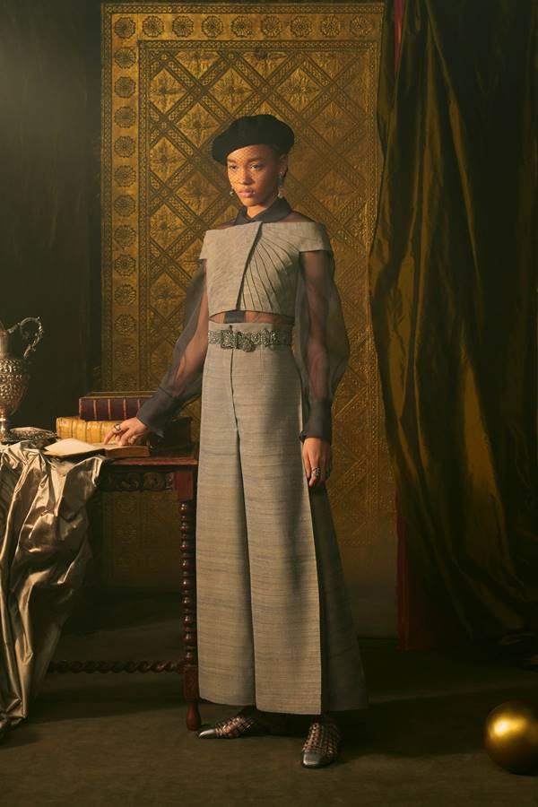 Look de alta-costura da Dior, de primavera/verão 2021