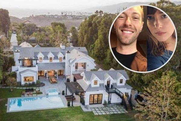 Chris Martin e Dakota Johnson se mudam para mansão de R$67,2 milhões