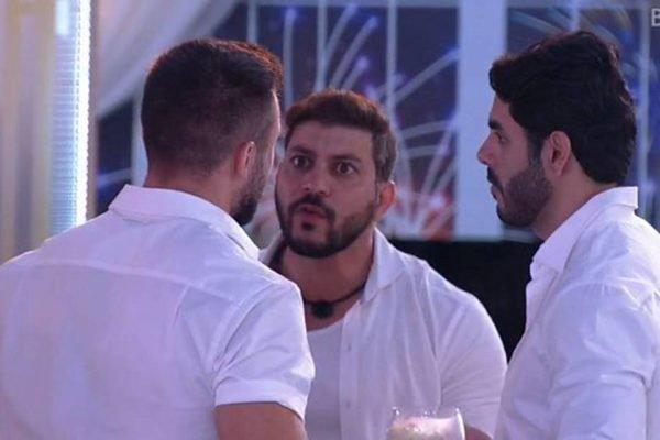 Caio, Rodolffo e Arthur Picoli na festa Ano-Novo