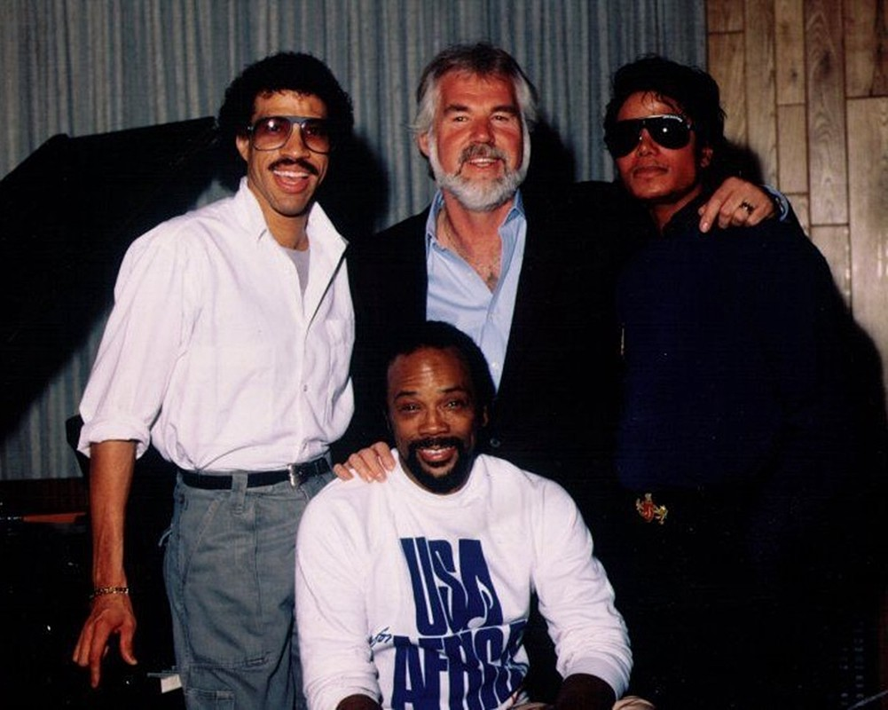 Lionel Richie, Kenny Rogers, Michael Jackson, Quincy Jones