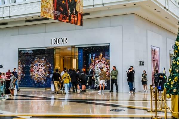 Fachada de loja da Dior na Austrália