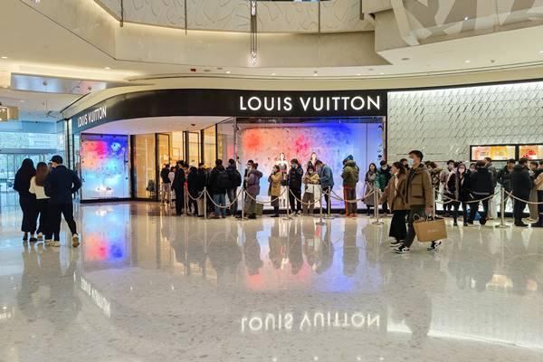 Fachada de loja da Louis Vuitton na China